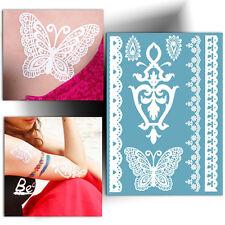 ►TATOUAGE TEMPORAIRE papillon (éphémère, henné blanc, faux tattoo femme)◄