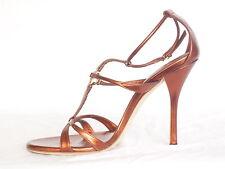 Gucci Damen Nappa Silk Sandals im Schone Rost und sehr Elegant Farbe Grösse; 39