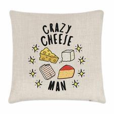Crazy Cheese Man Stars Cushion Cover Pillow Funny Joke Halloumi Cheddar