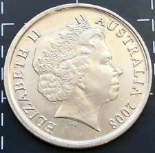 2008 AUSTRALIAN 5 CENT COIN - OFF CENTRE PARTIAL RIM STRIKE ERROR