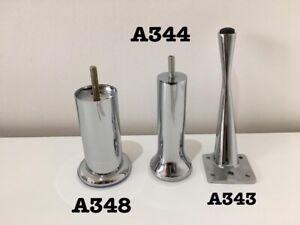 LUXURY 4 x new Silver chrome feet REPLACEMENT FURNITURE LEGS/FEET SOFA CHAIRS...