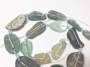 Genuine Ancient Roman Glass Fragment bead with Extreme Patina 1000-1500 old R530