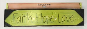 """Storysquares 17"""" Topper Faith Hope Love Demdaco Story Squares 13803 New In Box"""