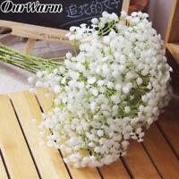 12×Artificial Baby's Breath Gypsophila Silk Flowers Fake Bouquet Home Vase Decor