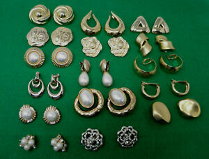 DESIGNER CLIP-ON EARRING LOT Monet Trifari Napier Coro Casual Corner & Unmarked