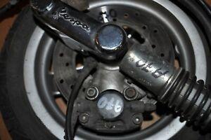 PIAGGIO VESPA 2013 FRONT WHEEL COMPLETE WITH SHOCK ABSORBER CALLIPER HANDLE