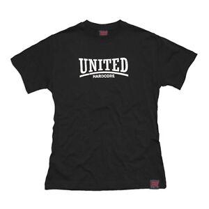Hardcore United Limited Edition Black T-Shirt Skinhead Punk 100% Cotton Slim-Fit