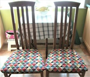 2 Renee Macintosh Style Dining Chairs ( newly recovered)