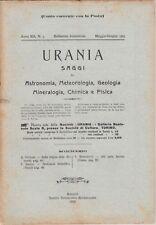 Urania, rivista, 1923, anno XII n. 3, astronomia, mineralogia, chimica, fisica