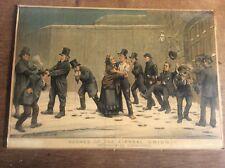 Antique Original Tom Merry Political Cartoon Lithograph Scenes of Liberal Union