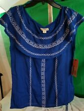 Blouse Ruff Hewn Blue SZ 2X Light Weight Orig $59.00 NEW NWT