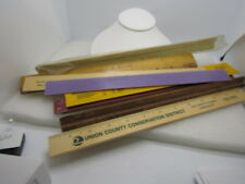 """Lot of 9 Rulers, Some Advertising, Triangular, Academic, 12"""""""