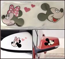 NEW Mickey & Minnie Mouse Car Decal/Sticker Window or Side Mirror