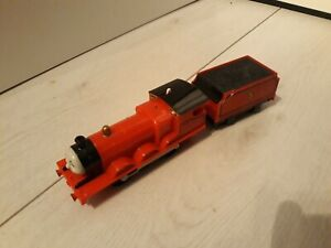 Thomas Trackmaster James Train with linked tender, battery operated. VERY RARE