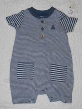 Baby Gap Boys Size: Newborn~Denim Blue & White Stripes One Piece Outfit NWT $24