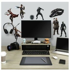 BLACK PANTHER Movie 26 Wall Decals Marvel Avengers Superhero Room Decor Stickers