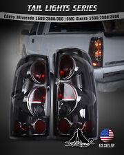 For 99-06 Chevy Silverado 99-02 GMC Sierra Tail Lights Chrome Smoke Pair Replace
