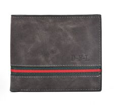 Man's Synthetic Leather Bifold Wallet For Cash & Bank Cards HM312 Black