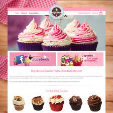 Cupicakes. COM-Cupcake sito Web eCommerce Business per la vendita casa cottura in linea