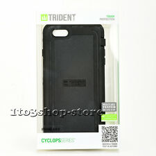 Trident Cyclops Rugged Hard Shell Snap Case Cover for iPhone 6 iPhone 6s (Black)