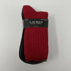 Lauren Ralph Lauren Womens Texture Crew Socks 6 pairs