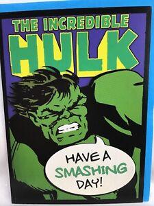 Great Hallmark Marvel Comics Incredible Hulk Birthday Card - Have a smashing day