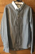 NWT Men's Size XL A&F Abercrombie & Fitch Navy/Whote Button Down Muscle Shirt