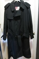 Mackintosh byWEATHERFAIR Mens Black Dual Lined Double BreastRain/Trench Coat 42R