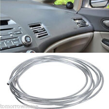 4m 8mm U Shape Air Vent Car Vehicle Grille Switch Rim Chrome Trim Strip Moulding