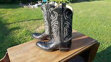 tony lama el rey collection alligator or exotic cowboy boots, mens ,11b,