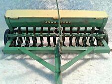 1960 Carter Eska Pressed Steel John Deere Grain Drill with Yellow Hopper Lids