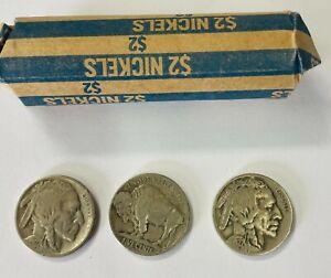 1927-S Indian Head Buffalo Nickel Roll of 40  Good/Fine