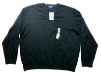 Jack Nicklaus New Mens Black Long Sleeve V-Neck Sweater Size 2XL