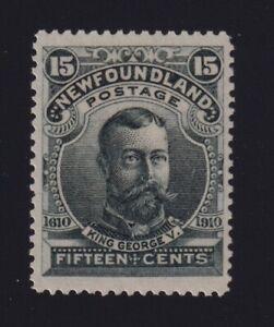 Newfoundland Sc #103 (1911) 15c slate green King George V Mint VF H
