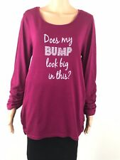 Ninesmine  Maternity Top Size 12 Long Sleeve Shirt Knit
