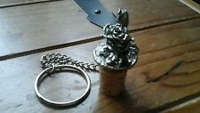 Beautiful...ROSE....BOTTLE STOPPER...METAL/CORK....GOOD CONDITION...SIX TREES..