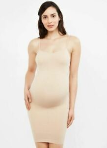 A Pea in The Pod Seamless Compression Maternity Slip Nude Size Small