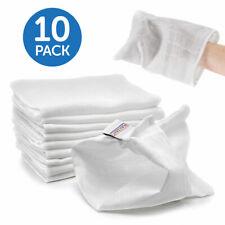 Mull Waschlappen Waschhandschuh Baumwolltücher Set (10 Stück) Baby & Kinder Weiß