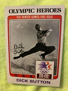 DICK BUTTON AUTOGRAPHED FIGURE SKATING CARD