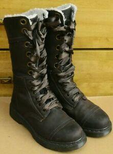 Dr Martens Triumph 1914, Brown High Shearling Shoes, Size EU 38, UK 5