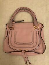 Chloe Marcie Medium Handbag Bag Purse Satchel in Blush Rose Nude Brand New