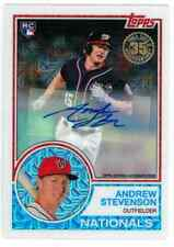 2018 Topps Series 1 Andrew Stevenson Chrome Refractor Autograph Rookie RC AUTO