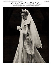 Crocheted Heirloom Bridal Lace Pattern c.1949 - Exquisite Crochet Lace Patterns
