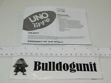 2009 Uno Tipo Board Card Game Replacement Instructions Only