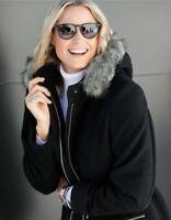 Damen Kurzmantel Wolljacke Jacke mit Kaschmir schwarz - NEU & OVP große Größen