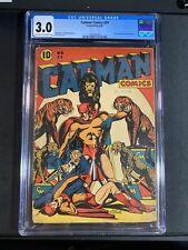 CATMAN COMICS #29 CGC 3.0 L.B. Cole circus cvr Doctor Macabre Story.
