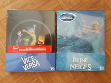 LOT 2 STEELBOOK - Blu-ray 3D + 2D - Fnac Vice - versa + La reine des neiges.