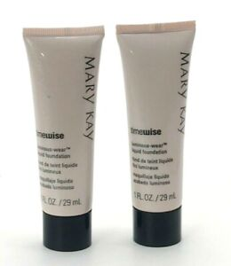 MARY KAY LUMINOUS WEAR LIQUID FOUNDATION~LOT OF 2~BEIGE 8~DISCONTINUED!