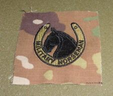 U.S.DEPARTMENT OF THE ARMY, MILITARY HORSEMAN BADGE. NEW ,SEW ON SCORPION CLOTH