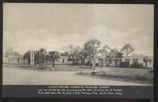 Postcard TAMPA Florida/FL  Lighthouse Tourist Cabins & Trailer Court Park 1930's